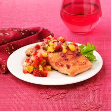 Chipotle Halloween Special 2012 by Chipotle Salmon With Strawberry Mango Salsa Recipe Taste Of Home