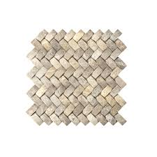 American Olean Glass Tile Trim by Shop American Olean Delfino Stone Emperador Natural Stone Mosaic
