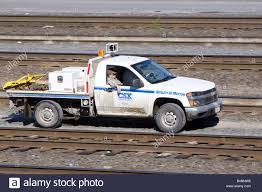 100 Railroad Truck A CSX Railroad Maintenance Truck Drives Along A Service Road In The