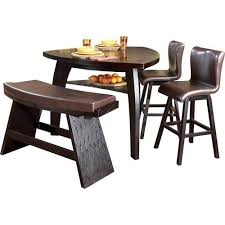 Yeh Brothers Mori Shige 4 Piece Contemporary Triangular Pub Table Stool Bar Bench
