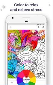 Coloring Book For Me Mandala Allows You To Relieve Your Stress On Android Phone It Recall Childish Joy And Happiness Show