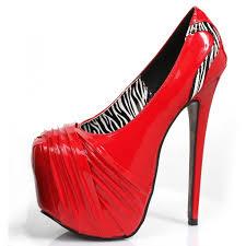 tamara red platform pump red high heel shoe