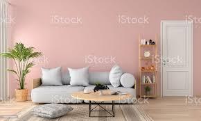 graue sofa im wohnzimmer rosa 3d rendering stockfoto und mehr bilder bildhintergrund