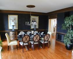 Amazing Of Dining Room Colors With Chair Rail Best 2 Tone Paint Home
