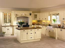 Fetching L Shape Kitchen Featuring Cream Color Cabinets