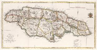 A Map Of The Island Jamaica Divided Into Counties And Parishes For History British West Indies