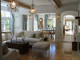 open floor plan lighting living room shabby chic style with wood