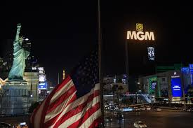 Las Vegas Strip dims lights to honour mass shooting victims