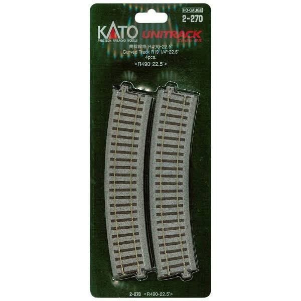 Kato 2-270 Unitrack Curved Track - 4 Pieces