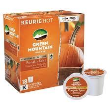 Dunkin Pumpkin Spice K Cups by Keurig Green Mountain Coffee Pumpkin Spice Coffee K Cups 18 Pk