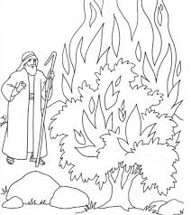 The Call Of Moses Colouring Pages Burning Bush CraftThe BurningBible