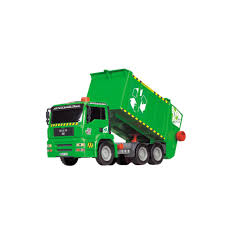 Dickie Toys 12-in. Air Pump Garbage Truck, Green | Rubbish Truck ...