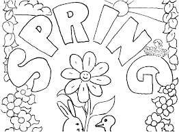 Crayola Coloring Pages Springtime Sheets Printable Spring Free
