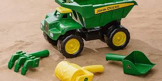 This 15-inch John Deere Dump Truck Comes W/ Sand Tools For $10.50 ...