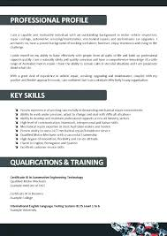 Mechanic Resume Example Auto Sample For Diesel Template