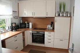 einbauküche küche mit e geräte spüle creme