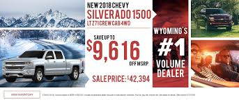 Wyoming's Premier Chevrolet Dealer | Serving Casper, Lander, Rock ... Larry H Miller Chevrolet Murray New Used Car Truck Dealer Laura Buick Gmc Of Sullivan Franklin Crawford County Folsom Sacramento Chevy In Roseville Tom Light Bryan Tx Serving Brenham And See Special Prices Deals Available Today At Selman Orange Allnew 2019 Silverado 1500 Pickup Full Size Lamb Prescott Az Flagstaff Chino Valley Courtesy Phoenix L Near Gndale Scottsdale Jim Turner Waco Dealer Mcgregor Tituswill Cadillac Olympia Auto Mall