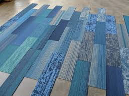 Blue Family Designer Plank Carpet Tiles 975 X 394