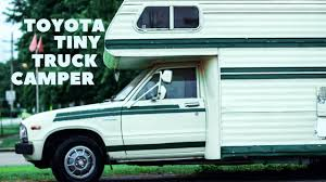 100 Custom Truck Camper Cozy Toyota TINY TRUCK DIY Cedar Interior 1984