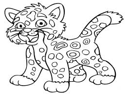 Baby Jungle Animal Coloring Pages 1