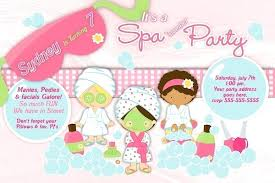 Free Spa Party Invitations
