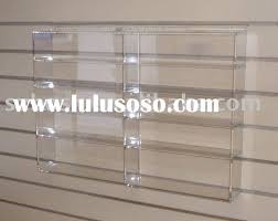 Wall Mounted Acrylic Display ShelfPlexiglass Book StandLucite Shoes Holder