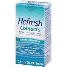 Halloween Contacts No Prescription Needed by Refresh Contacts Comfort Lens Contact Drops 0 4 Fl Oz Walmart Com