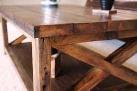 Rustic Coffee Table Plans X Tables Free Download Wood Square Shape