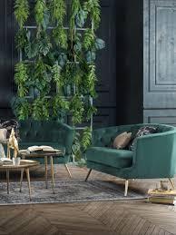 zweisitzer sofa mit samtbezug dunkelgrün ansehen