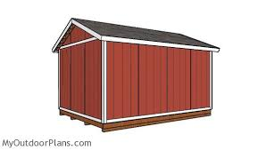 12x16 gable storage shed roof plans myoutdoorplans free