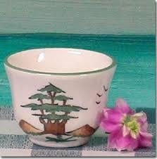 Lebanon Handmade Ceramic Decorative Coffee Cups Drink Lebanese