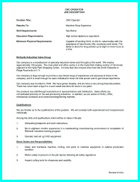 Machinist Resume Templates Free Template Cnc Samples