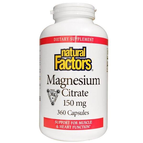 Natural Factors Magnesium Citrate Supplement - 150mg, 360 Capsules