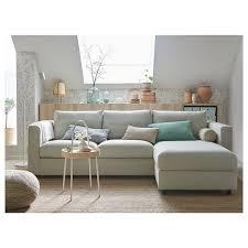 vimle 3er sofa mit récamiere gunnared beige ikea deutschland