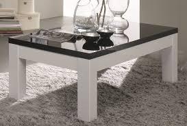 table basse carrée pas cher table basse bois et blanc laqué
