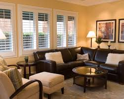 engaging living room ideas with leather sectional