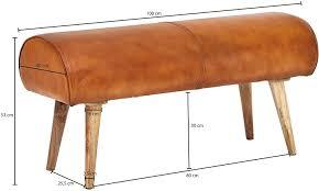 möbel dielenmöbel flurbank kleine bettbank leder 2er