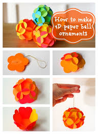 Diy Christmas Decoration Paper Ball Ornaments Tutorial Step By How To Make 3D Decorations