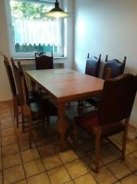 esstisch mit 6 stühlen eiche hell gebraucht in sehr gutem