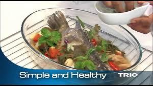 steamer cuisine healthy steam fish trio food steamer
