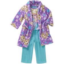 Frozen Bathroom Set Walmart by Frozen Toddler Robe U0026 Pajama 3 Pc Sleepwear Gift Set