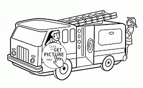 Fire Truck Coloring Pages To Print New Fireman In The Fire Truck ...
