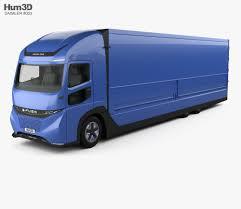 100 Poly Box Trucks Daimler EFuso Vision One Truck 2017 3D Model Vehicles On Hum3D