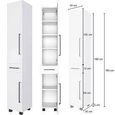 badmöbel set 5 teilig inkl 70 cm waschbeckenunterschrank in weiß manly 03