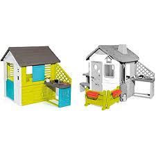 smoby pretty haus spielhaus für kinder für drinnen und draußen mit küche und küchenspielzeug gartenzaun mit blumenkästen zubehör für