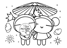 Love Pucca Coloring Pages For Kids Printable Free