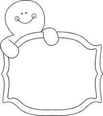 Black and White Gingerbread Man Sign Clip Art Black and White Gingerbread Man Sign Image