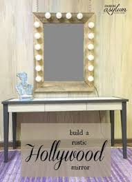 DIY Rustic Hollywood Mirror