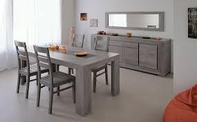 salle à manger complète en chêne massif gris contemporaine