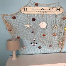 tjikko fischernetz deko maritime deko mediterranen stil fischerei dekorative mit farbigen muscheln netz schlafzimmer wohnzimmer wand bar